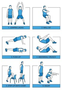 migliori esercizi in casa per rimanere in salute
