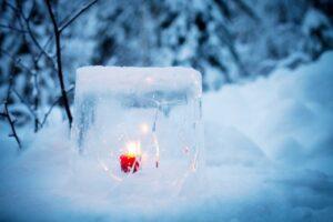 fare una lanterna di ghiaccio