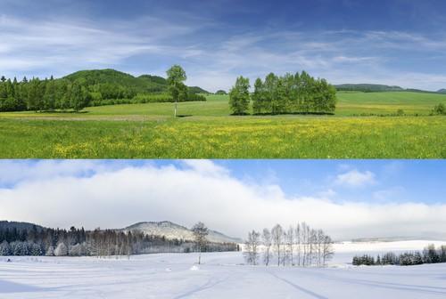fotografare lo stesso paesaggio in stagioni differenti
