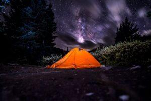 andare in tenda in inverno